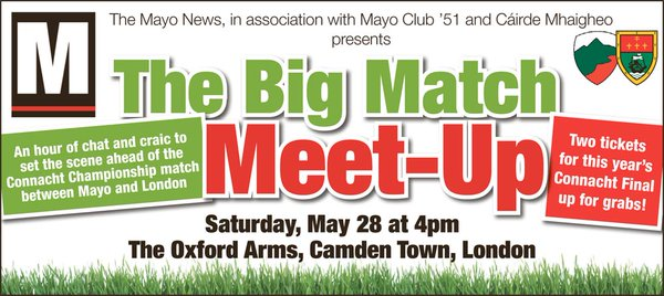 London v Mayo Big match meet up