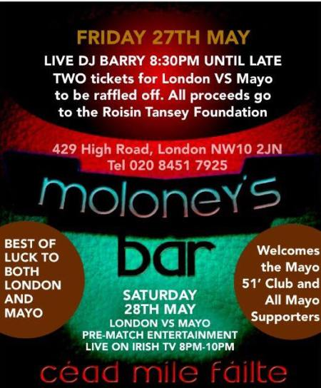 London calling moloneys bar