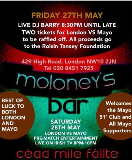 London calling moloneys bar