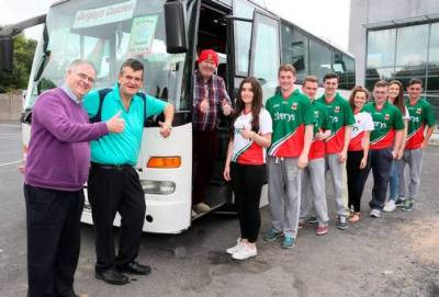 mayo supporters bus-mayo fans bus