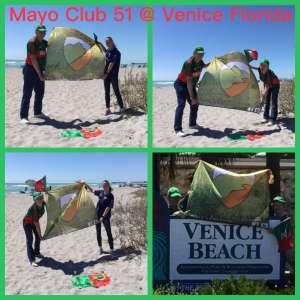 route 51 flag at Venice beach Florida.