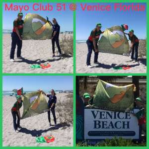 route 51 flag at Venice beach Florida.