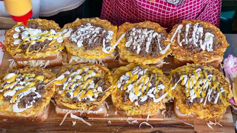 Cheese + Bulgogi Three-Layered Toast