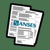 tres recibos de haberes de la ANSES