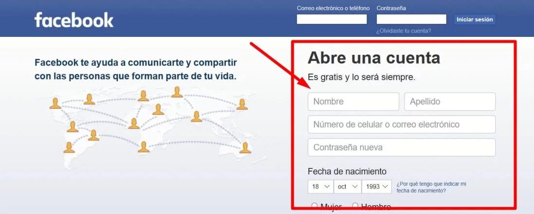 como crear una cuenta de facebook