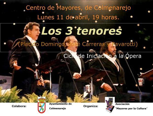 Cartel los 3 tenores