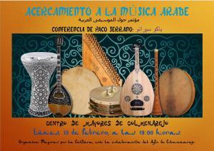 Cartel charla sobre música arabe