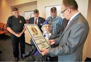 Warren Mayor Jim Fouts - Purple Heart City