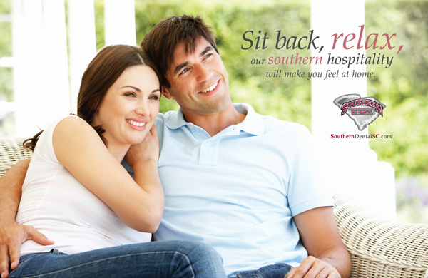 Southern Dental Postcard Design Award Winning by The Mayoros Agency in Fort Mill, SC