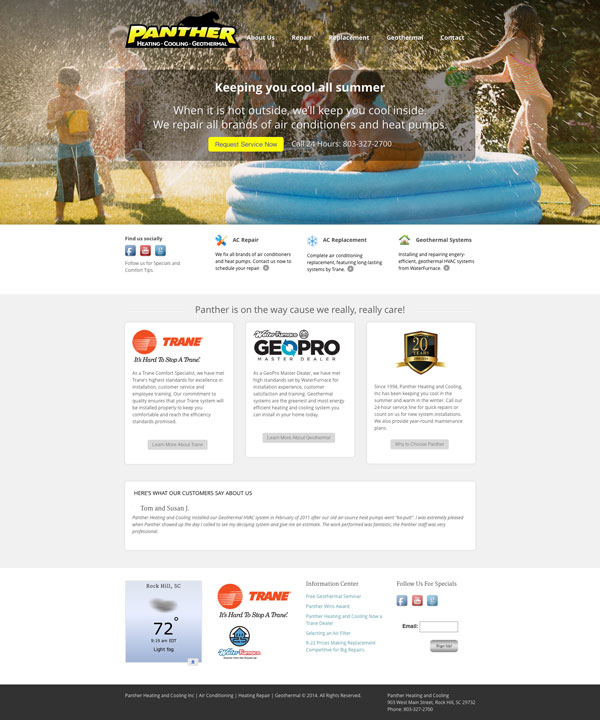 Heating and Cooling Website