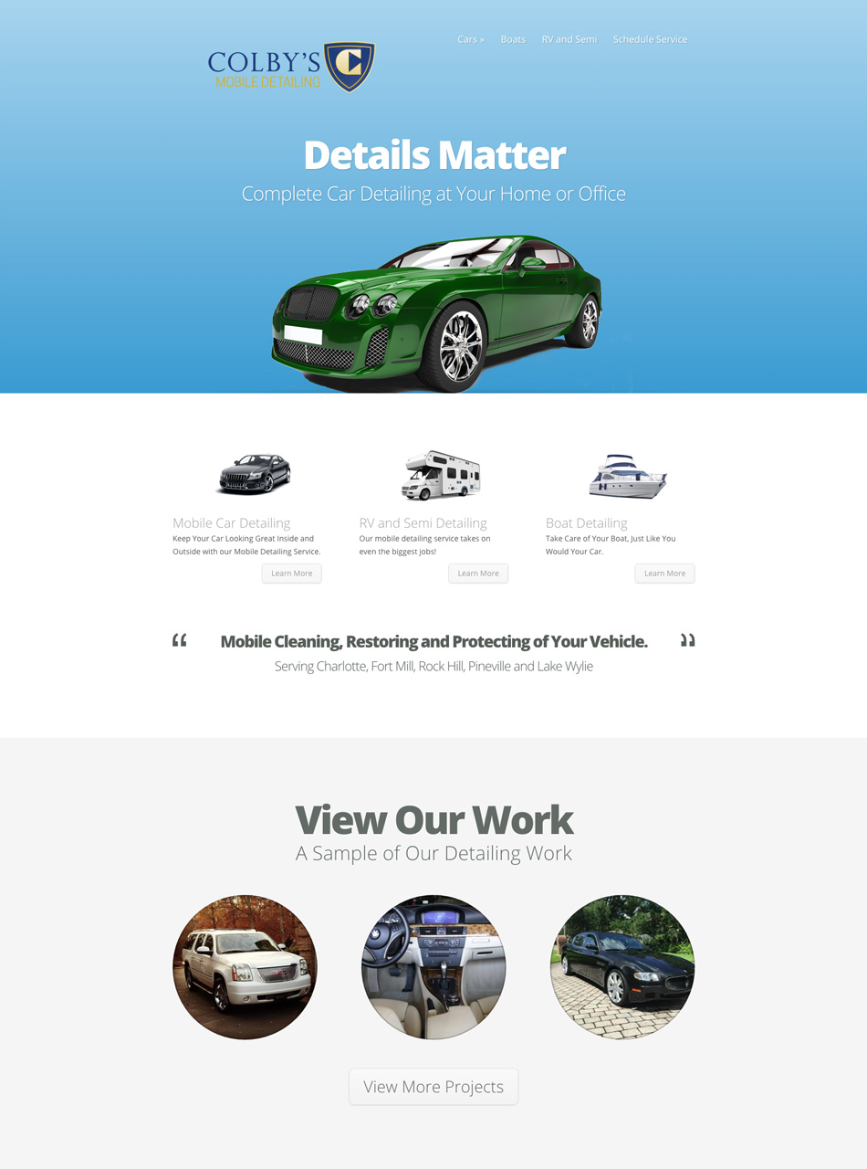 Colby's Mobile Detailing Website Design