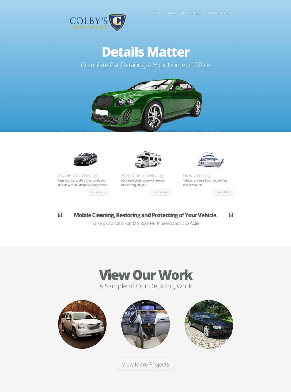 Colby's Mobile Detailing Website Design
