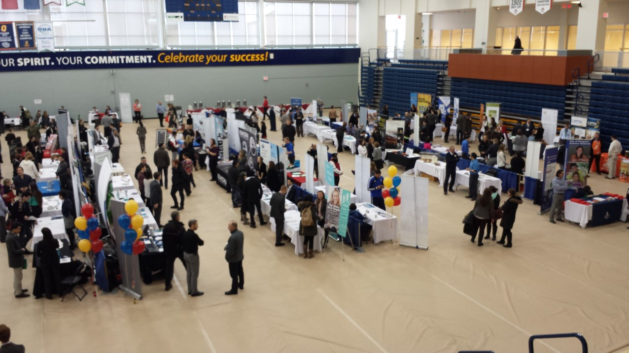 Meeting students and employers at the 6th annual live work Kingston job fair - Feb. 10