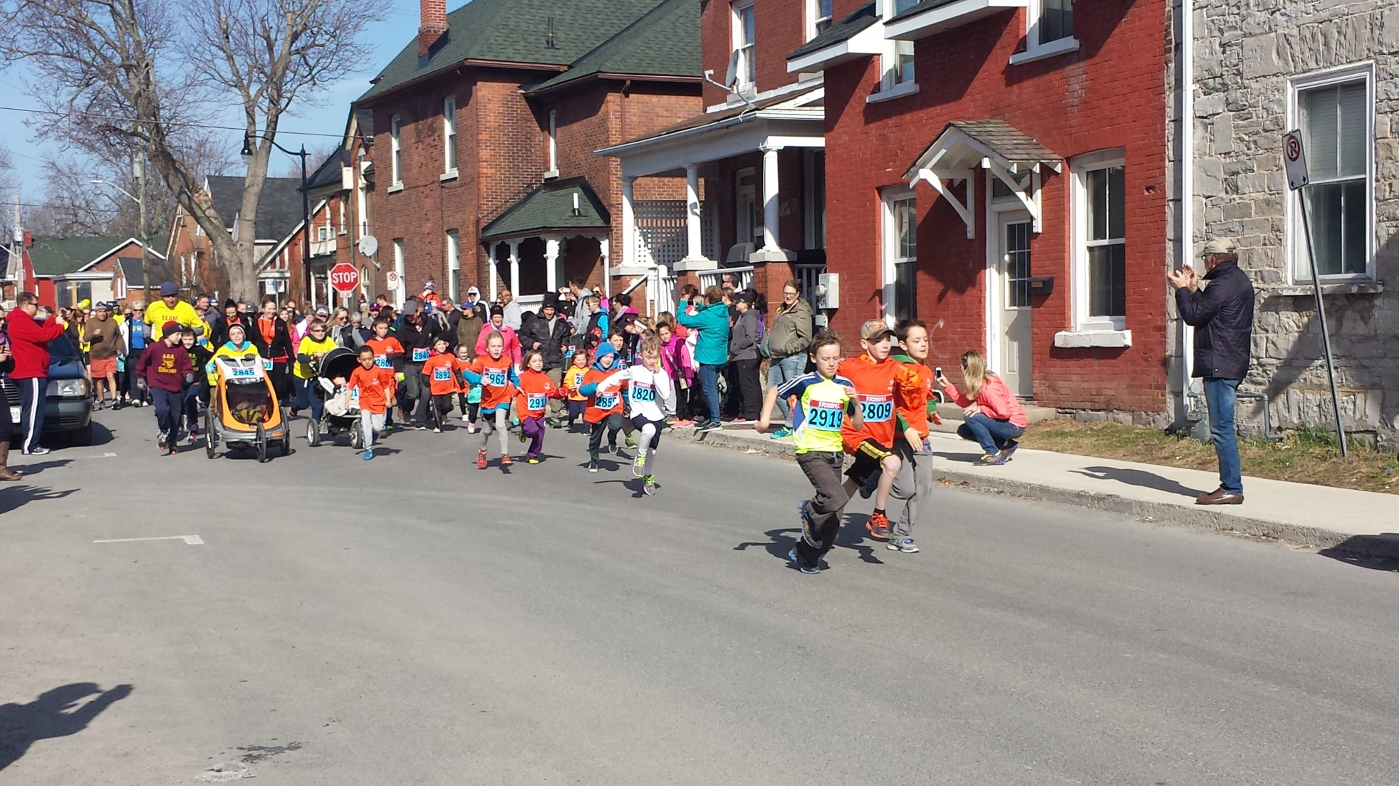 A big show of support at this years' Run/Walk for the Child Development Centre at Hotel Dieu - April 12