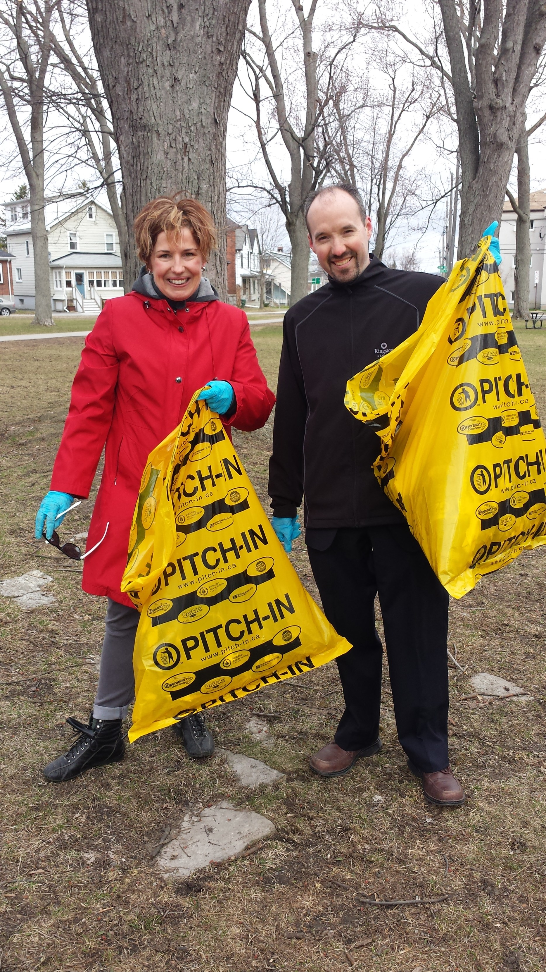 Joined by Councillor Holland to do our part in keeping our community clean for Pitch-In Kingston Day - April 24