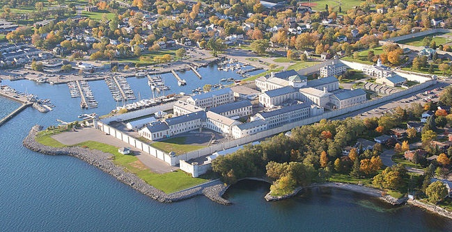 Arial view of Kingston Penitentiary site