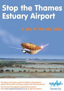 Campaigners against the airport have launched a new poster campaign