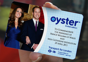 TfL has issued a new Oyster card to commemorate the Royal wedding. Image: TfL