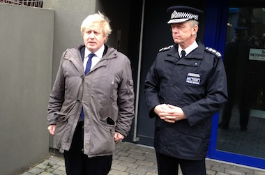 Mayor Boris Johnson and Met Commissioner Sir Bernard Hogan-Howe