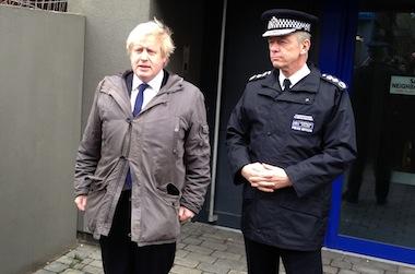 Mayor Boris Johnson and Met Commissioner Sir Bernard Hogan-Howe