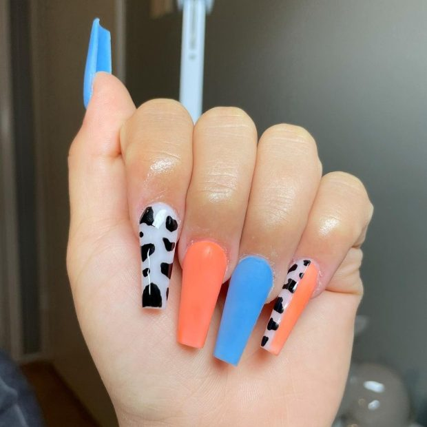 cow print summer nail designs for 2021