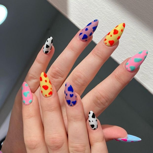 COLORFUL COW NAILS