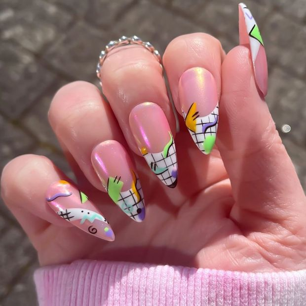 90'S INSPIRED NAILS summer nail designs for 2021