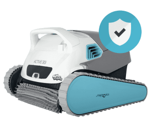 Robotic Pool Cleaner Industry Leading Warranty Protection (Dolphin robotic pool cleaner pictured)