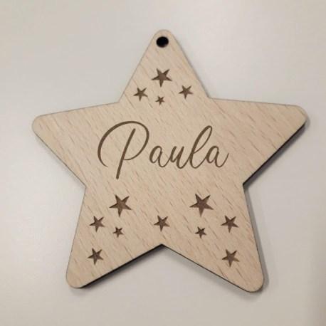 estrella de navidad personalizada de madera star mayuki