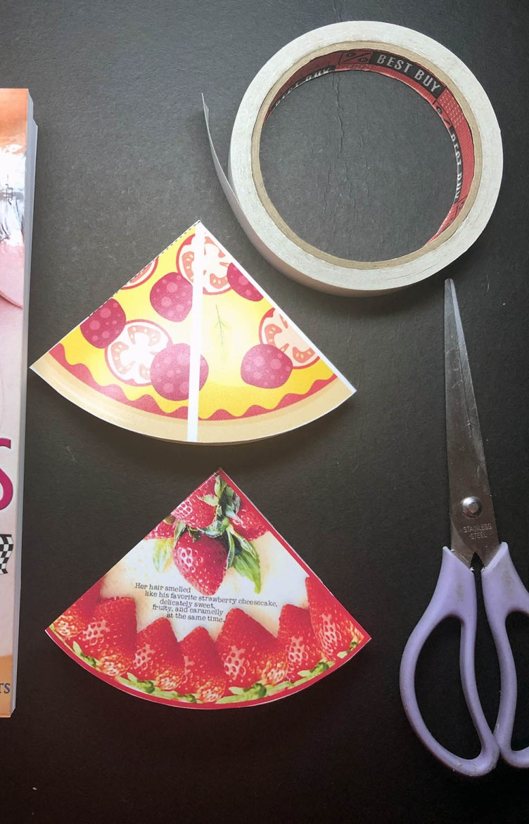 Bookmarks Strawberry Cheesecake Pepperoni Pizza