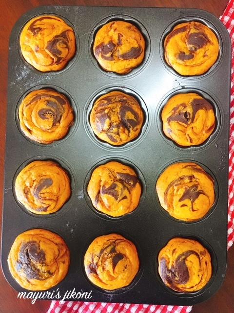 mango marble mini bundt cakes 1