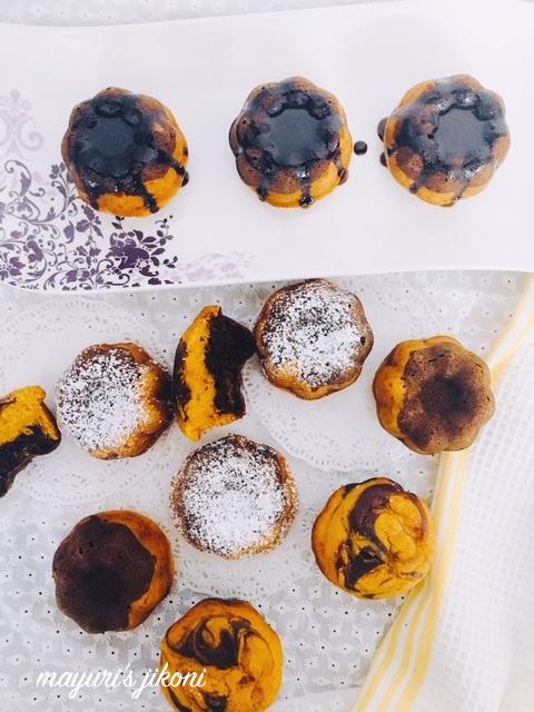 mango marble mini bundt cakes 2