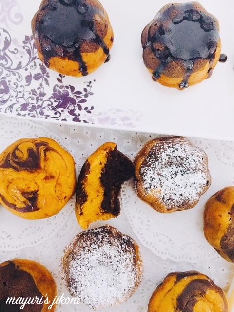 mango marble mini bundt cakes 4