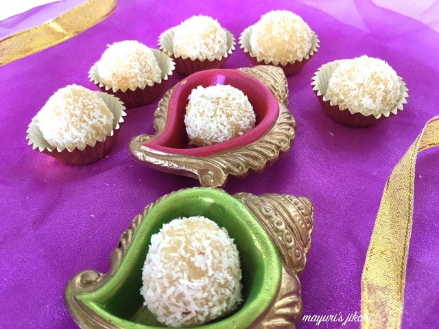 Coconut Laddoos/ Coconut Fudge Balls