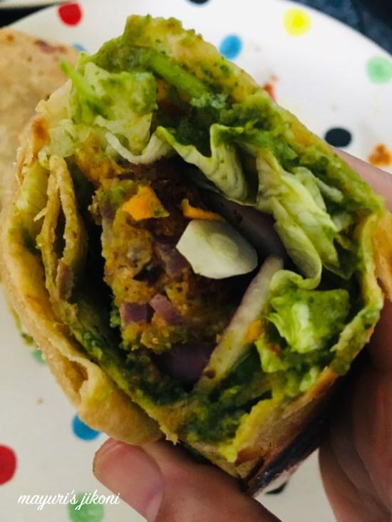 veg kebab paratha 9