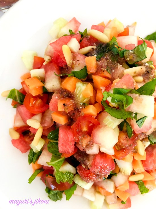 watermelon rind salad 6