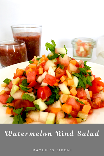 watermelon rind salad