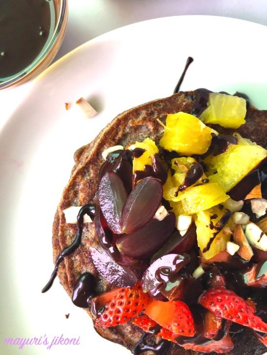 ragi and oat pancakes 3
