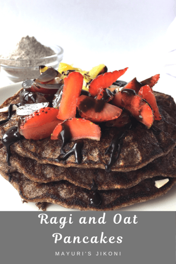 ragi and oat pancakes