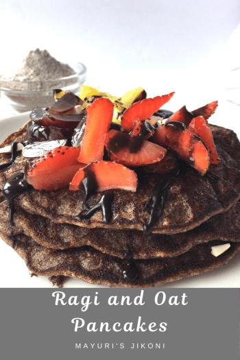 ragi and oat pancakes
