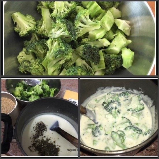 baked broccoli collage