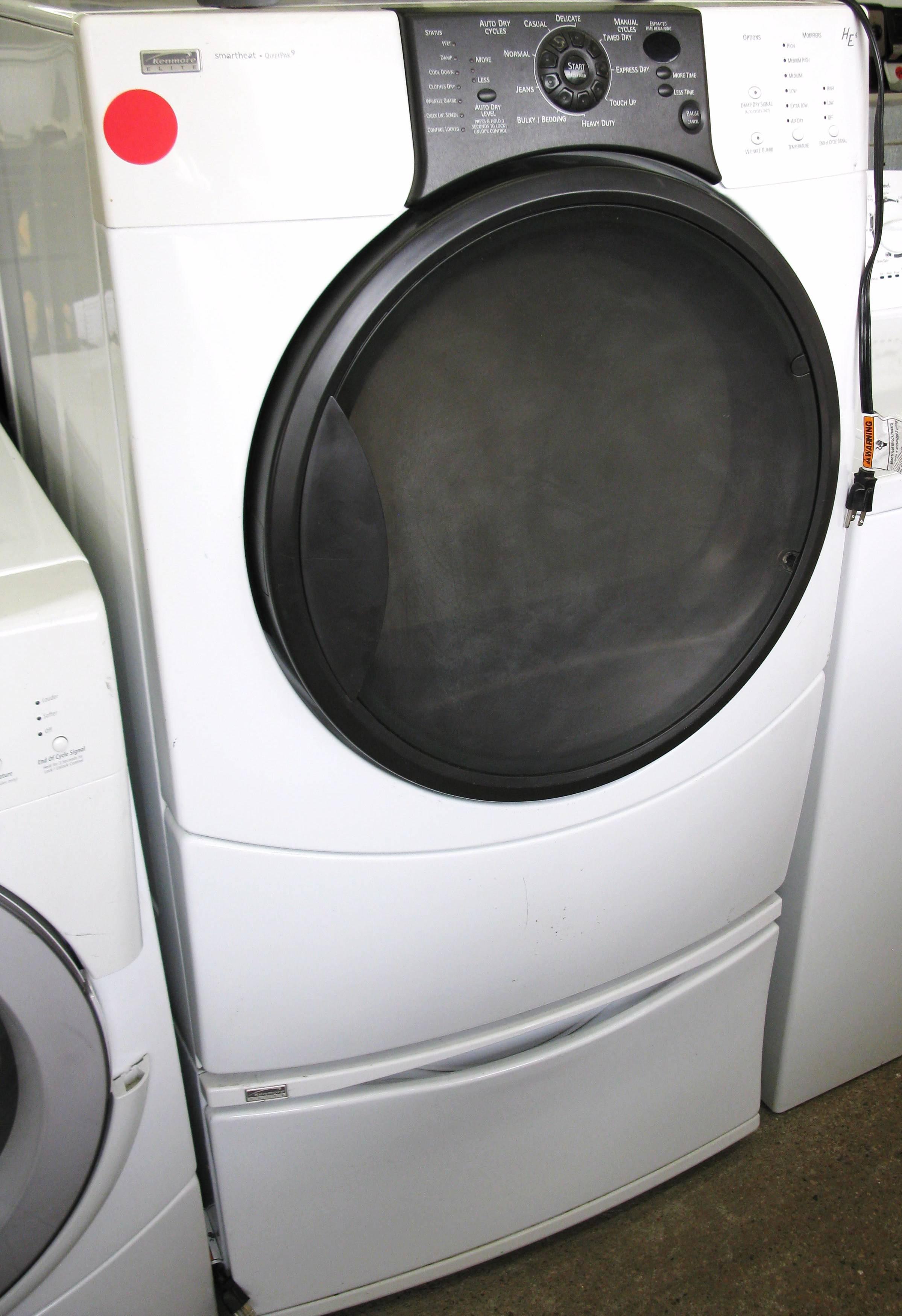 Used Kenmore Elite Gas Dryer W Pedestal