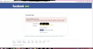 Facebook is down for maintainence