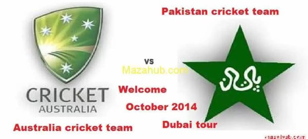 Pakistan vs Australia Schedule October 2014