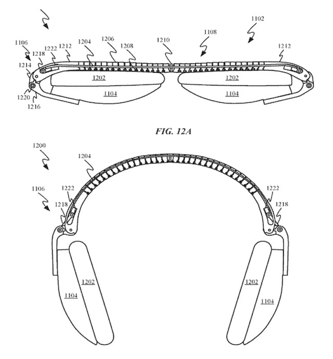 An example of how Apple says its headphones could fold