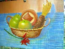果物のスケッチ