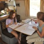 A-B homeschooling Airstream