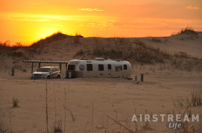 Monahans Airstream sunset