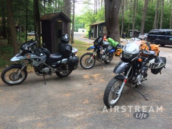 Lake Luzerne campground motorcyles