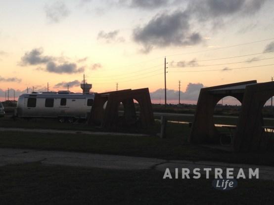 Galveston Airstream sunset